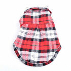 Cheap Sale❤ Pet Dog Puppy Grid Clothes Clothing Costume Shirt Tops Coats Outwear