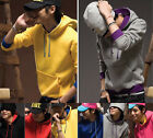 6 colors Fashion Men Slim Korean Casual Hoodies sweater coat TC003