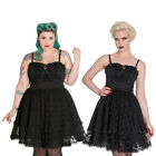Hell Bunny Zylphia Mini Dress Goth Lolita Lace Punk Gothic Black