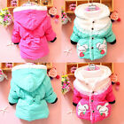 Baby Girl Clothes Winter Coat Kids Red/Green Jacket Gown with Zip 2-5Y FREE SHIP