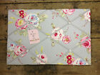 Clarke & Clark English Rose Fabric Pin/Memo/Notice Board Cork LG 60x40cm Gift