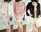 2014 NEW Women Lady Trendy Slim Faux Rabbit Fur Warm Short Jacket Coat