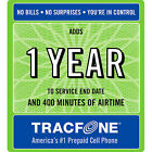 TRACFONE 400 Min Airtime - Year 365 Day PIN +300 Min CompPromoCode EMAILED Fast!