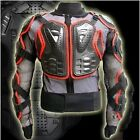 RED Motorcycle Full Body Armor Jacket Spine Chest off-road Protection Gear
