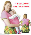 New Stretchy Cotton Sling Wrap Baby Carrier, 0-18 Months (12 colours)