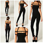 Celebrity Style Strap Dance Unitard Jumpsuit Catsuit Size 6,8,10,12UK/2,4,6,8USA