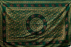 Wine SINGLE GOLDEN ELEPHANT Mandala THROW Sofa BEDSPREAD Wall hanging INDIAN