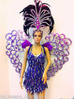 Da NeeNa C043 Vegas Showgirl Burlesque Festival Cabaret Wings Heart Costume Set