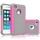Shock proof Rubber Matte Hard Case Cover For iPhone 4 4S Screen Protector