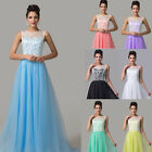 Promotion Maxi Evening Gown Bridesmaid Prom Quinceanera Party Sheer Celeb Dress