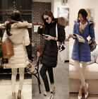 NEW Women Leisure Thick Winter Warm Real Duck Down Slim Real Fur Collar Coat