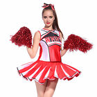Debardeur Jupon Pom pom girl cheer leaders Rouge XS/S/M/L/XL costume deguisement