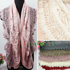 New Stylish Lace Mohair Stitching Hollow Out Knit Long Warm Scarf Shawl Wrap