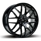 "19"" x4 RIVA DTM TTRS STYLE S LINE ALLOY WHEELS BLACK EDITION FOR AUDI A3 A4 A6"
