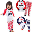 Unisex Pyjama Set Kids Sleepwear Girls Boys Cotton Long Sleeve Top+Leggings