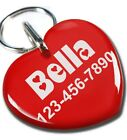 Внешний вид - Sweetheart Red cute heart shaped dog cat charm custom pet tag by ID4PET