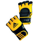 Adidas Boxing Ultimate MMA Gloves Yellow Padded Shaped Lightweight EVA Foam Gel
