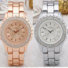Fashion Watch New Style Stainless Steel with Stones Mens/Women-USA SELLER WA