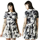 Disturbia Storm Tie Dye Goth Dress Punk Gothic Rock Rave Cyber