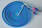 Lot FLAT BRAIDED 10FT fabric charge cables FOR galaxy s3 s4 MICRO USB data sync