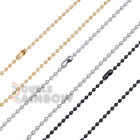 "C21 20-30""Men stainless steel Gold Silver Black ball bead id necklace chain link"