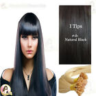 "22"" DIY kit Indian Remy Human Hair I tips/micro beads  Extensions  AAA GRADE #1b"