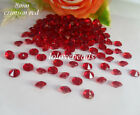 8mm 2CT Crimson Red Acrylic Diamond Confetti Wedding Party Crystal Table Scatter