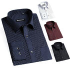 RETRO POLKA DOTS SHIRTS Mens Formal Casual Dress Shirts Slim Fit Business Wear