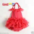 New Watermelon Red Baby Girls Lace Ballet Dress Cotton Romper 6-18m Best Gifts