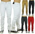 Mens Ripped Jeans Slim Fit Straight Skinny Denim Trousers Casual Pants