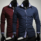 ~~WHITE BUTTON DOWN  Formal Casual Shirts Mens TOP DESIGN Slim PARTY DRESS SHIRT