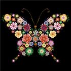 BUTTERFLY -  NEW DECAL - BEAUTIFUL- T-SHIRT  SIZES S  - 4X