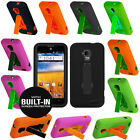 Hybrid Case Cover Belt-In Screen Protector For ZTE Mustang / Z998 AT&T