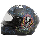 KBC MOTORCYCLE MOTORBIKE BIKE RACE SPEC HELMET TRI-COMPOSITE ACU GOLD ROAD LEGAL
