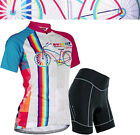 Women Outfit Riding Short Sleeve Jersey Shorts Kits Cycling Bike Shirt Pants Set