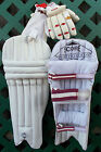 New Cricket Batting Pads Plus Gloves 4 Sizes XS Boys Small Boys Boys or Youth