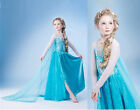 New Fashion Frozen Elsa Princess Gown Dress Children's Beautiful Clothing Dress