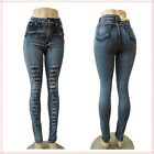 Sexy Blue Skinny High Waist 2015 14 New arrive Fashion Style Casual Women Jeans