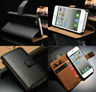 iPhone 5C 5 5S Genuine Real leather Wallet Stand Case Cover Slim & Very light