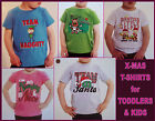 BABY & KIDS CHRISTMAS T-SHIRT sz 0 1 3 5 ~ Adorable X-MAS Tshirts - NEW boy girl