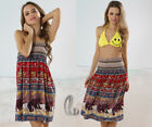 BOHO Cotton Tube Dress Skirt 2 in 1 Convertible Beach Cover Up AU SELLER sw025