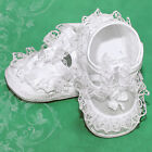 NIB Girls Shoes White Shamrock Christening Satin CLOSEOUT Corrine Size 0 1 3