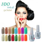 IDO 15ml Color Soak Off Gel Nail Polish Led UV Nail Art Base & Top Coat