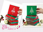 New 1 Box Christmas Folding Cards 5 Envelopes Greeting Nice Gift DIY Craft Sale