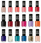 rimmel 60 seconds nail polish varnish 8ml brand new choose a shade