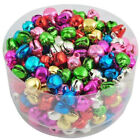 100x Wholesale Colorful Bell Beads Iron Jingle Loose Charms New Christmas Gift