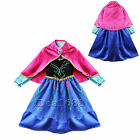 Frozen Princess Anna Cosplay Party Fancy Dress Outfit Costume Girl Gift Age 3-9