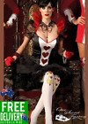 Ultra Sexy Noble Queen of Hearts Dress Up Halloween Hens Party Costume 8-14