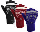 Ladies Womens Knitted Fingerless Gloves Mittens Knitting Pattern Nordic Style