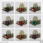 2 pcs New Fashion Antique Rhinestone Flower Alloy Hair Clip Barrette Jewelry